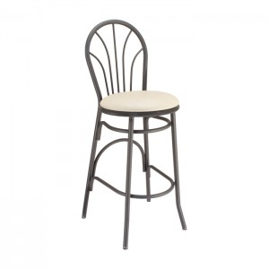Curveline Metal Parlor Barstool with Upholstered Seat for Bars & Restaurants