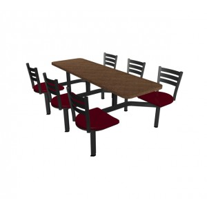 Windswept Bronze laminate table top, Quest chairhead
