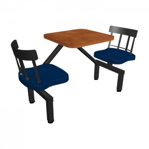 Wild Cherry laminate table, Country chairhead with Atlantis seat
