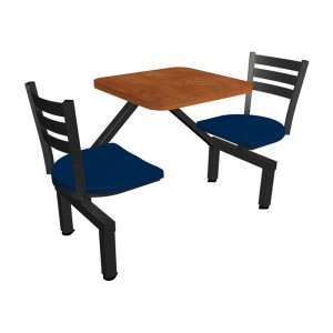 Wild Cherry laminate table top, Quest chairhead with Atlantis composite seat